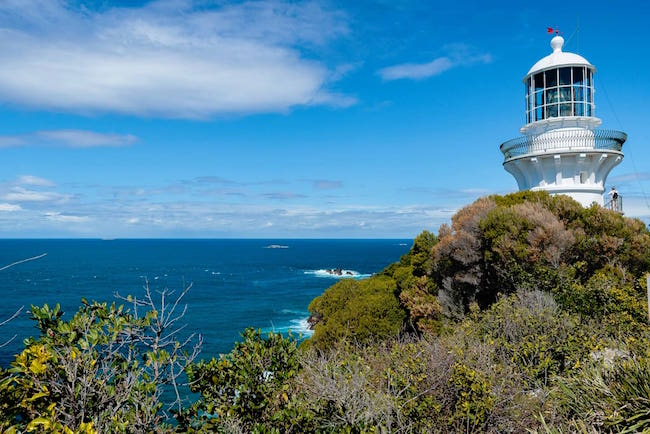 The Sugarloaf Point Lighthouse in Seal Rocks, New South Wales, Australia. © airbnb / Judy, Linda And Lori