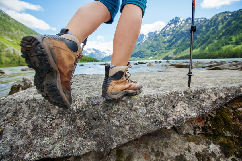 Hiking with good boots. (c) My Good Images / shutterstock