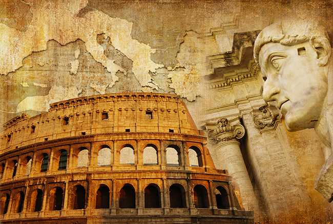 The Roman Empire split into western and eastern segments due to migration. (c) Leoks / shutterstock