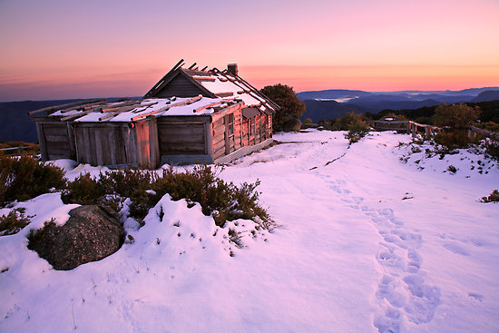 The beautiful and snowy Mt Stirling on the Alpine Ranges of Victoria
