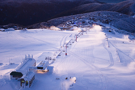 A view from the top of Mount Buller Alpine ranges of Victoria
